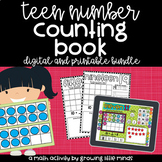 Counting and Numbers Book:  Teen Numbers [printable and di