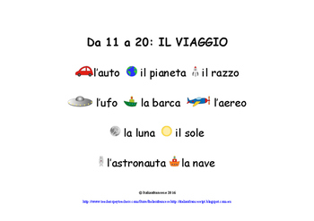 Travel Counting Book in Australian Curriculum F to Year 2 in Italian NEW PRICE