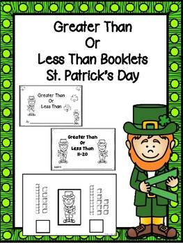 Counting Booklets -Greater Than Or Less Than (St. Patrick's Day)