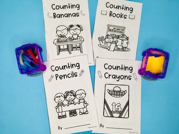 Counting Books - Back to School, 4 Books