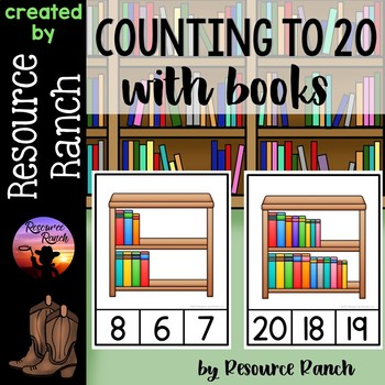 Counting Books Clip Cards|Counting Reader 1-20