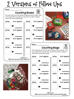 Counting Boxes Math Center