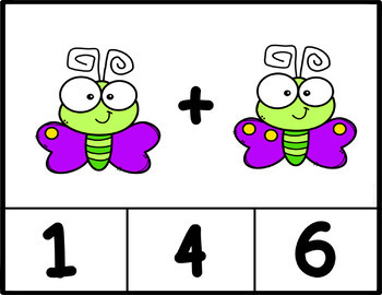 Counting Bugs Clip Cards: Number Recognition and Addition to 20