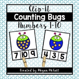 Counting Bugs Clip-It (Numbers 0-10)