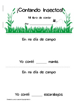 Counting Bugs! ESPAÑOL! Number sense - Counting - Ordering - Ready to use