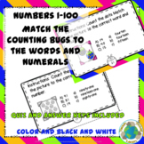 Counting Bugs Picture Word Number Matching Task Cards