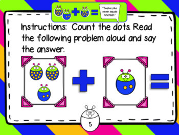 Counting Bugs Read Aloud Task Cards