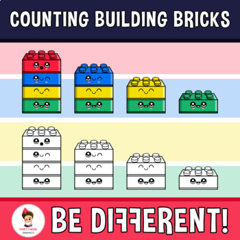 Counting Building Bricks Clipart