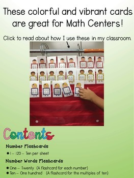 Counting Practice Sheets and Number Flashcards - Bundle