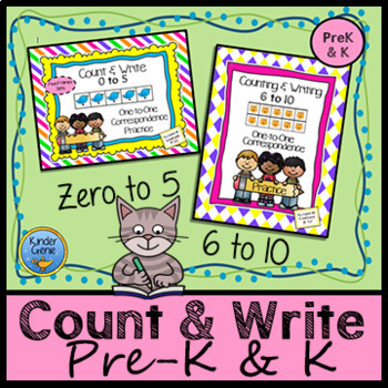 Counting Bundle: Counting to Five with 5 Frames & Counting to 10 with 10 Frames