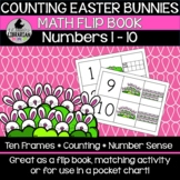 Counting Bunnies Easter Math Flip Book Numbers 1-10 Center