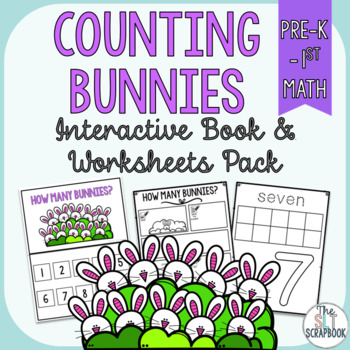 Counting Bunnies Numbers 1-10- Interactive Book and Worksh