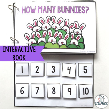 Counting Bunnies Numbers 1-10- Interactive Book and Worksheets Pack