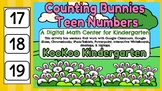 Counting Bunnies Teen Numbers- A Digital Math Center