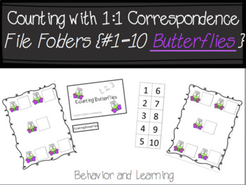 Counting Butterflies 1-10 File Folder-for Students with Autism and Special Needs