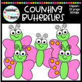 Counting Butterflies Clipart