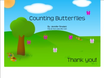 Interactive Counting Butterflies Smart Notebook