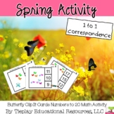 Butterfly Numbers One to One Correspondence 1-20 Math Center Station Activity