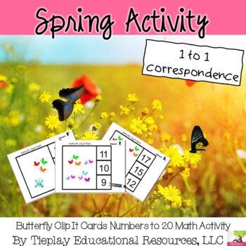 Numbers 1-20 & Dice Match Butterfly Game