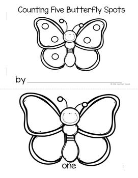 Counting Butterfly Spots Emergent Reader Mini Book {PK-K}