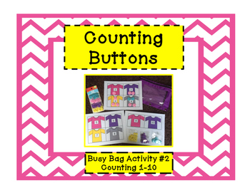 Counting Buttons: Busy Bag #2