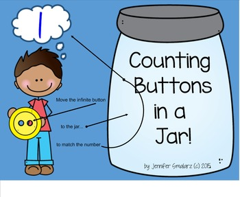 Interactive Counting notebook: Buttons on the Smartboard!