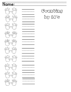 Counting By 10's Recording Sheet - FREEBIE!