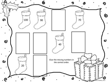 Christmas Edition: Counting By 10s Center And Recording Sheet