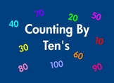 Counting By 10's To 100 Kindergarten Math Common Core