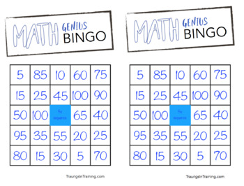 Counting By 5s Bingo