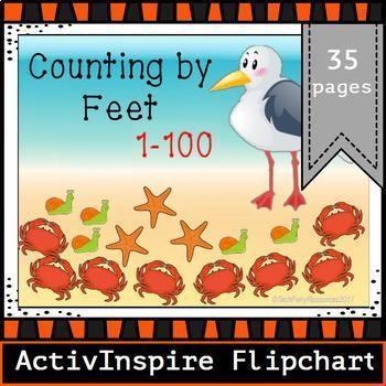 Counting By Feet: Promethean Board ActivInspire Flipchart