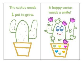 Counting Cactus Mini Book & Craft