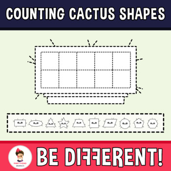 Counting Cactus Shapes Clipart