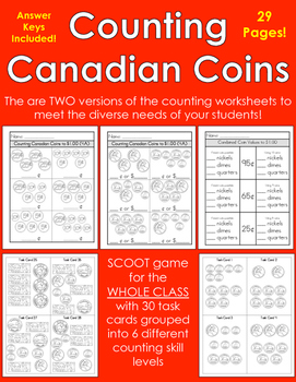 Counting Canadian Coins