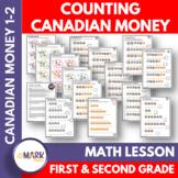 Counting Canadian Money Grades 1-2 Google Slides & Printables