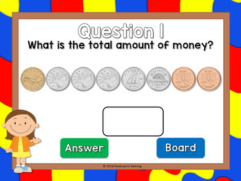Counting Canadian Coins Powerpoint Game