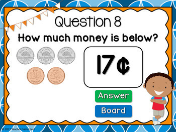 Counting Canadian Coins Up to 20 Cents Powerpoint Game