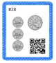 Counting Canadian Coins up to $1.00 Nickels, Dimes, Quarters QR Code Task Cards