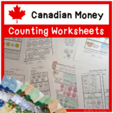 Canadian Money Counting Worksheets