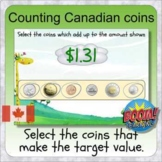 Counting Canadian coins (BOOM digital distance learning de