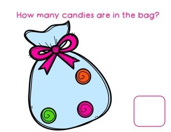 Counting Candies 0-10 Book and Worksheets