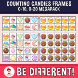 Counting Candies Frames 0-10, 0-20 clipart (Megapack)