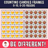 Counting Candies Frames 0-10, 0-20 clipart (Freebie)