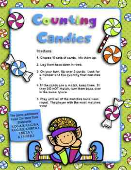 Counting Candies:  Number to Quantity Matching Game