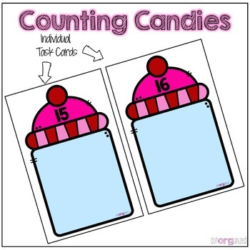 Counting to 20 Candy Manipulative Kindergarten February Math Center