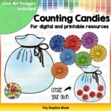 Counting Candies in a Bag (Movable and Printable)