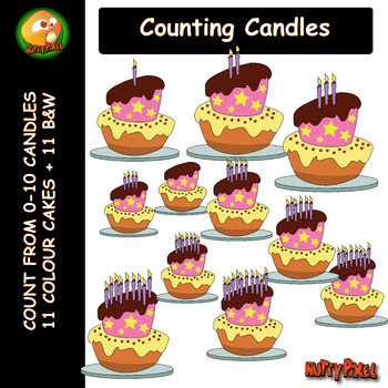 Counting Candles - Count 0-10 Clip Art