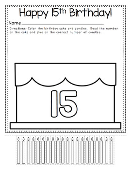 Counting Candles Number Book 0-20