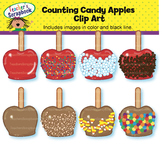 Counting Candy Apples Clip Art