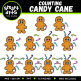 Counting Candy Cane Clip Art